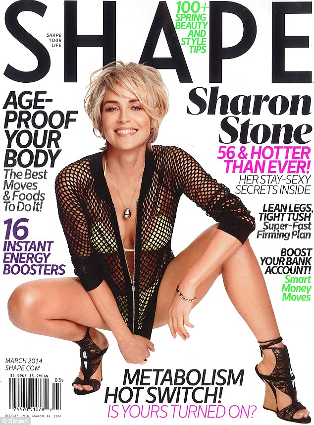 Slivering Sexy Siren SHARON STONE Shows Up in Shape Magazine: She's Still Got It!