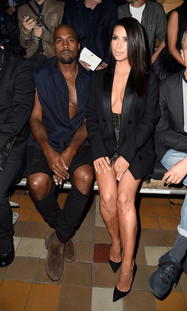 KIM & KANYE Boo'd at London's Fashion Week Runway Show