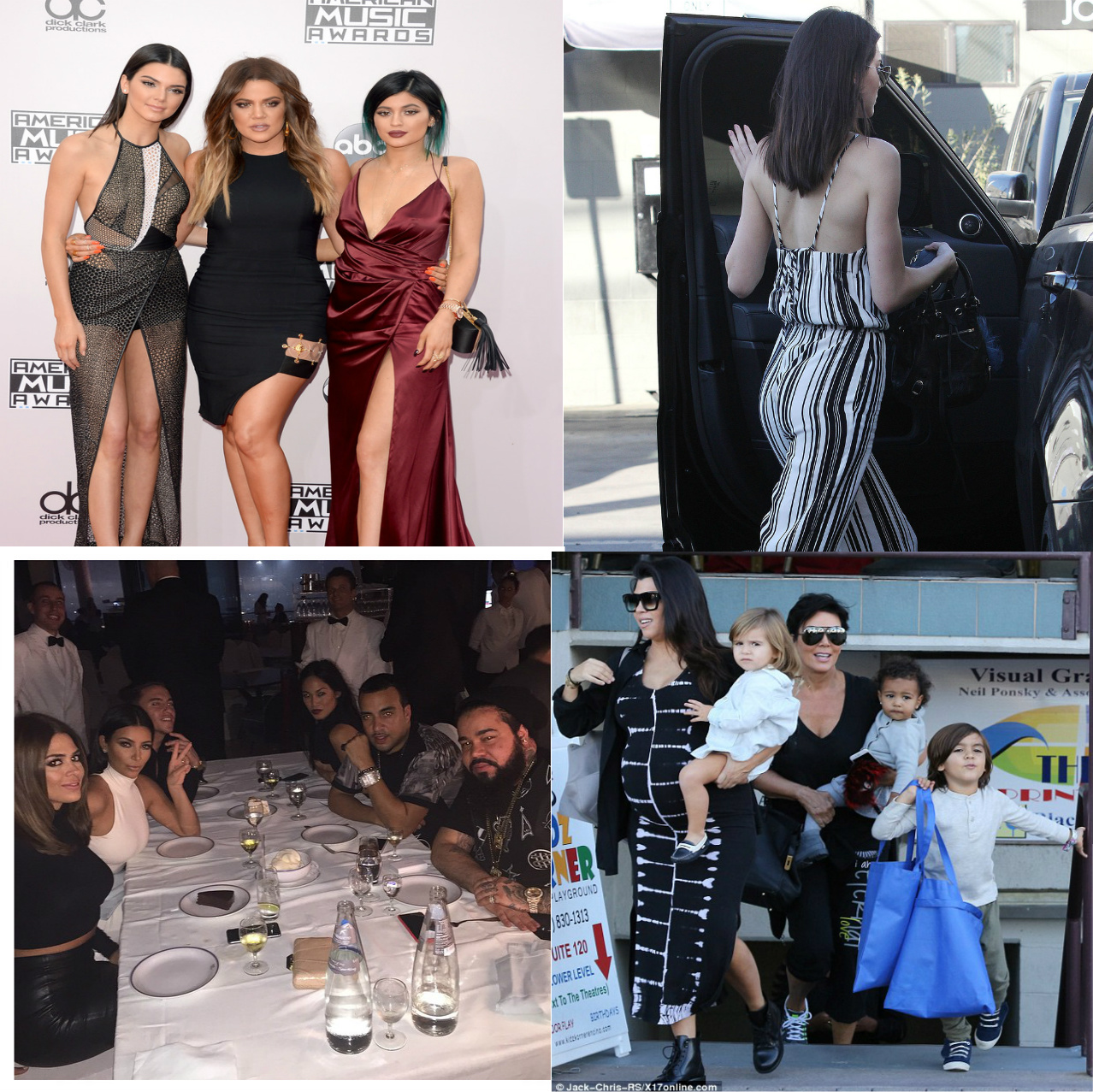 {KUWTK} KRIS & KOURTNEY w/NORTH & PENELOPE,  KHLOE, KENDALL & KYLIE in L.A and at the AMAs, KIM w/Friends in Dubai UAE