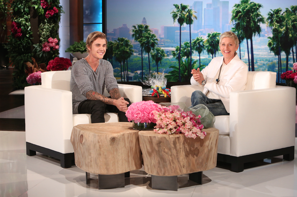 JUSTIN BIEBER Cops a Squad On the Couch at ELLEN DEGENERES + Makes Video Apology For His Bad Behavior