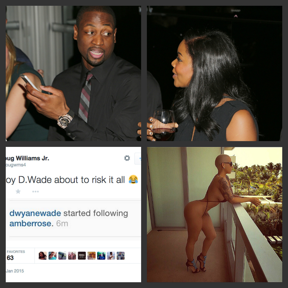 DWAYNE WADE Follows AMBER ROSE Just One Day After Her Near Nudes Go Viral