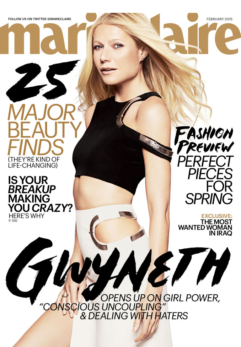 {OnDa Cover & In Between} Goop's GWYNETH PALTROW Covers MARIE CLAIRE's February 2015 Issue