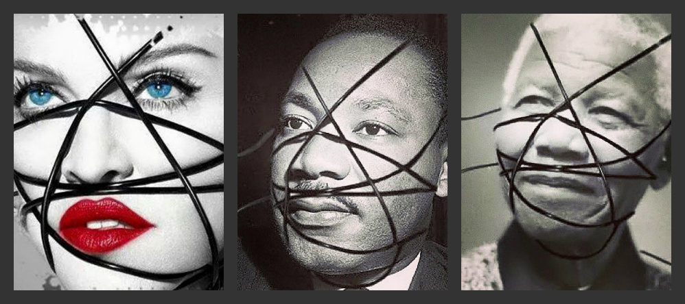#UnapologeticBitch with a #RebelHeart: MADONNA Wraps MARTIN LUTHER KING & NELSON MANDELA – Has She Gone Too Far?