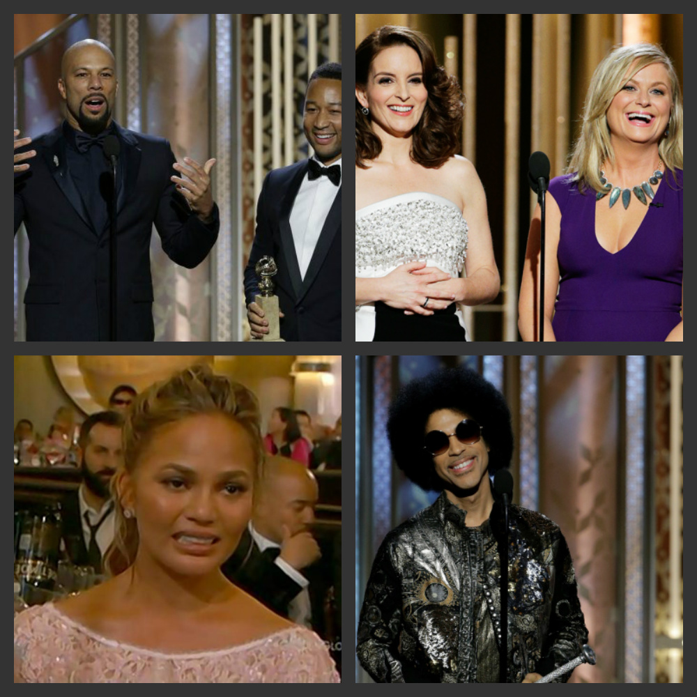 AMY POEHLER & TINA FEY, Rap Artist COMMON, JOHN LEGEND, PRINCE & CHRISTY TEIGEN at 72nd Annual Golden Globe Awards: Who Stole the Show!?