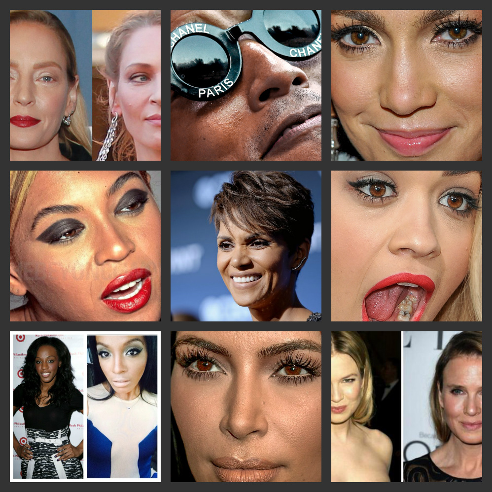 Flaws and All: HALLE BERRY Talks Pressures of Plastic Surgerty + Unretouched Photos of CINDY CRAWFORD & BEYONCE Leaked + Closeups: JLO, MILEY, PHARRELL, RITA ORA, RIHANNA, KIM KARDASHIAN, KATY, LADY, ARIANA & More
